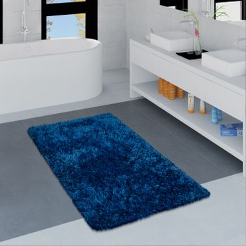 Modern Bath Mat Bathroom Rug Shaggy Soft In Various Sizes And Colours – Bild 11