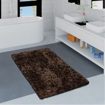 Modern Bath Mat Bathroom Rug Shaggy Soft In Various Sizes And Colours – Bild 2