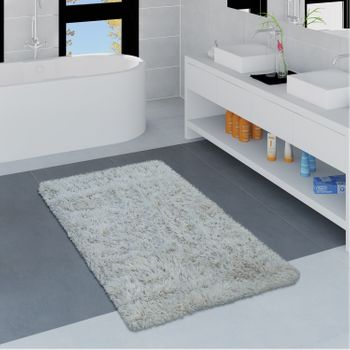 Modern Bath Mat Bathroom Rug Shaggy Soft In Various Sizes And Colours – Bild 23