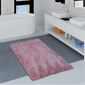 Modern Bath Mat Bathroom Rug Shaggy Soft In Various Sizes And Colours – Bild 14