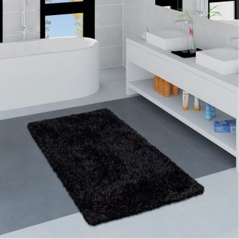 Modern Bath Mat Bathroom Rug Shaggy Soft In Various Sizes And Colours – Bild 17