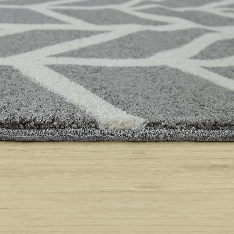 teppich kurzflor streifen grau wei. Black Bedroom Furniture Sets. Home Design Ideas