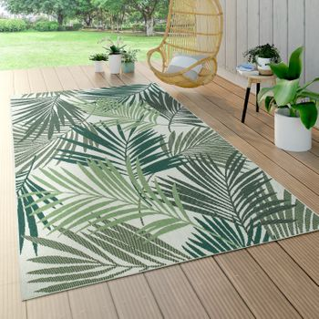 Indoor & Outdoor Rug Palm Trees Design Green