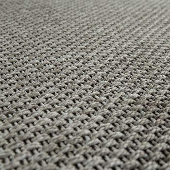 Indoor & Outdoor Flat-Weave Rug Sisal Effect Natural Look Monochrome Grey – Bild 4