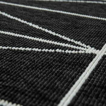 Indoor & Outdoor Short-Pile Rug 3D Geometric Scandinavian Design In Black – Bild 3