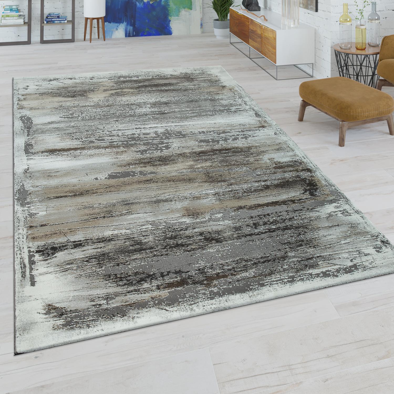 kurzflor teppich abstraktes muster beige grau. Black Bedroom Furniture Sets. Home Design Ideas