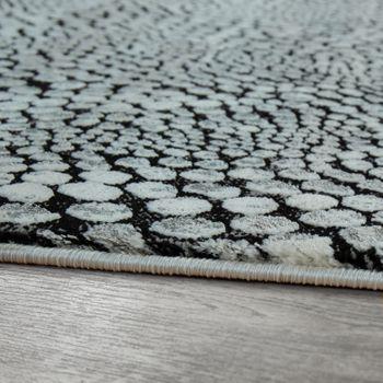 Orient Teppich Modern 3-D-Effekt Meliert Schimmernd Stein Optik Schwarz Grau  – Bild 2
