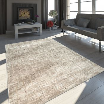 Oriental Rug Modern Abstract Design Beige