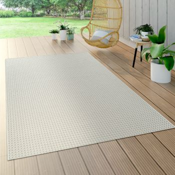 In- & Outdoor Teppich Sisal Optik Weiß
