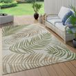 Indoor And Outdoor Rug Palm Tress Design Green 001