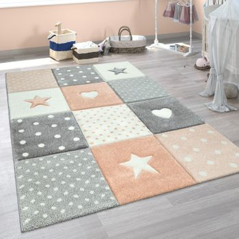 Children's Rug Children's Room Spots Hearts Stars Pastel Asstd Colours And Sizes – Bild 14