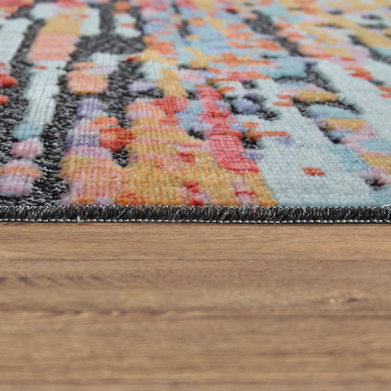 tapis poils ras design abstrait color tapis24. Black Bedroom Furniture Sets. Home Design Ideas