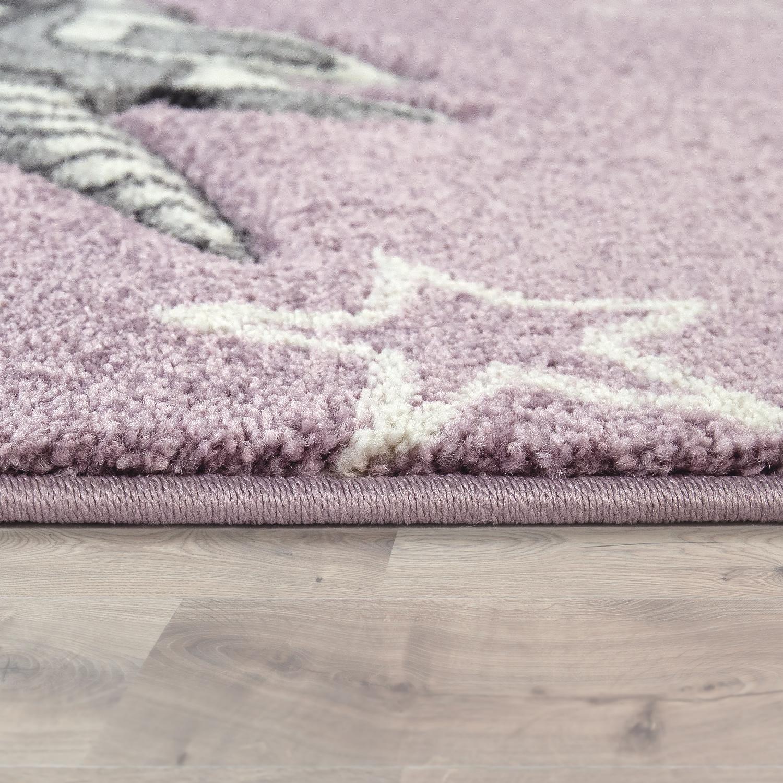 Kinderteppich 3-D-Design Einhorn Lila | TeppichCenter24