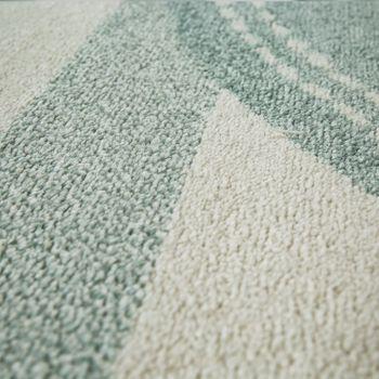 Tappeto per Cameretta dei bambini Pelo corto Motivo geometrico Pastello Design con stelle in Verde – Bild 3