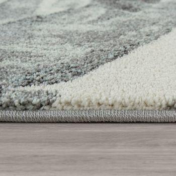 Tapis De Salon À Poils Ras Moderne Couleurs Pastel Botanique Design Palmiers En Vert – Bild 2