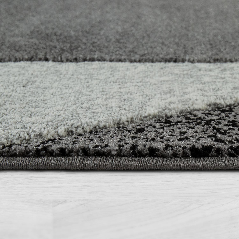 kurzflor teppich t rkis grau bord re teppichcenter24. Black Bedroom Furniture Sets. Home Design Ideas