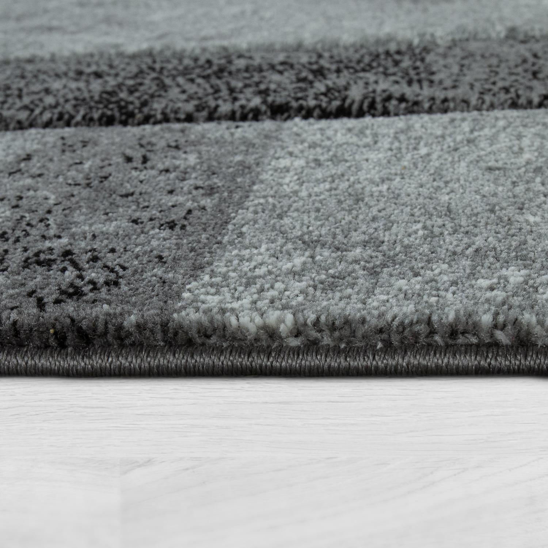 kurzflor teppich karo design grau teppichcenter24. Black Bedroom Furniture Sets. Home Design Ideas