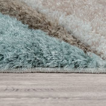 Rug Living Room Colourful Green Brown Soft Shaggy Fluffy 3D Abstract Deep-Pile  – Bild 2