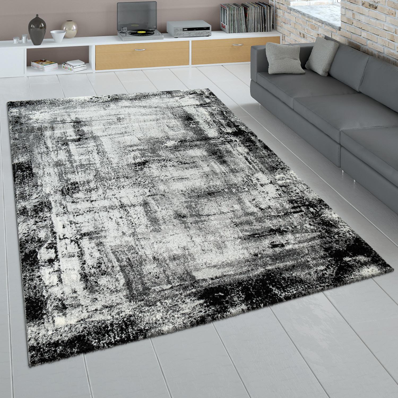 kurzflor teppich used look grau anthrazit teppichcenter24. Black Bedroom Furniture Sets. Home Design Ideas