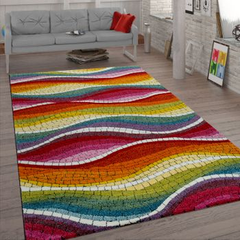 Retro Rug Mosaic Design Colourful