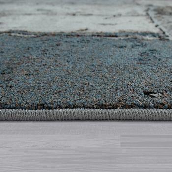Tapis À Poils Ras Gris Salon Doux Pierre Carrelage Design Carreaux Motif Robuste – Bild 2