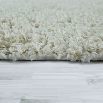 Shaggy Rug Beige Living Room Bedroom Deep-Pile Soft Robust Comfortable – Bild 2