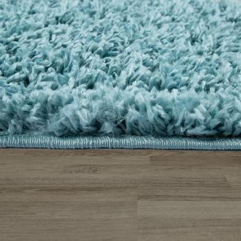 Deep-Pile Rug Living Room Turquoise Pastel Colours Diamond Pattern Design Shaggy – Bild 2