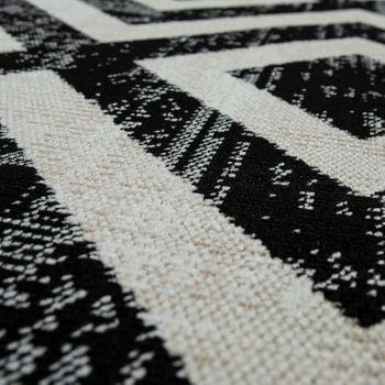 Rug Black White Balcony Terrace Outdoor Scandi Design Diamond Pattern Robust – Bild 3