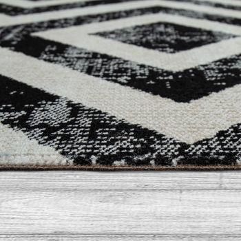 Rug Black White Balcony Terrace Outdoor Scandi Design Diamond Pattern Robust – Bild 2