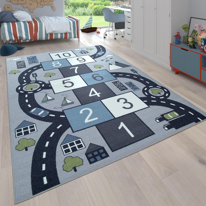 Spielteppich Hüpfkästchen Straßen-Motiv Grau