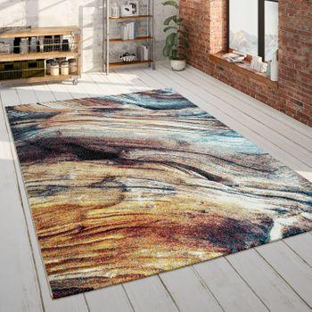 Living Room Rug Colourful Abstract Pattern 3D Design Soft Robust Short-Pile – Bild 1