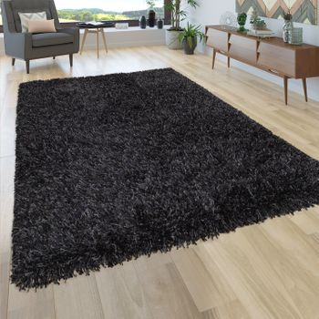 Deep-Pile Rug Shaggy Grey Beige Blue Pink Anthracite Living Room Soft Robust – Bild 2