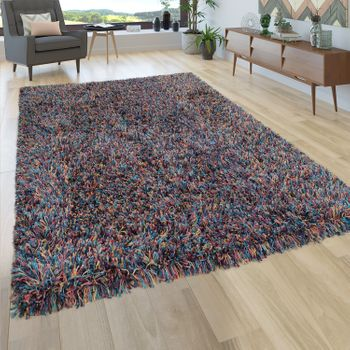 Deep-Pile Rug Shaggy Grey Beige Blue Pink Anthracite Living Room Soft Robust – Bild 14