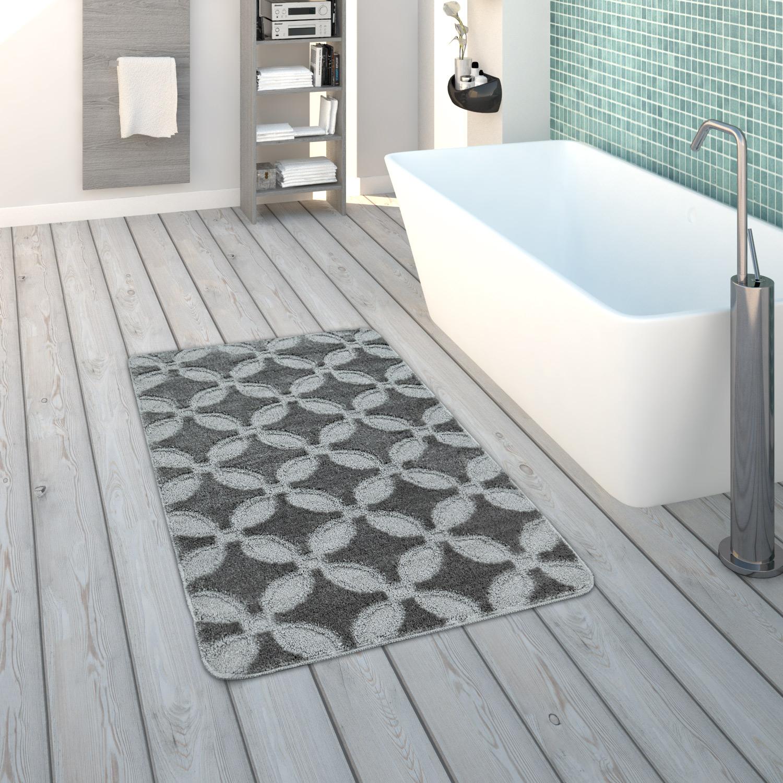 Revetement De Sol Salle De Bain Antiderapant tapis de salle de bain tapis de bain À poils ras gris