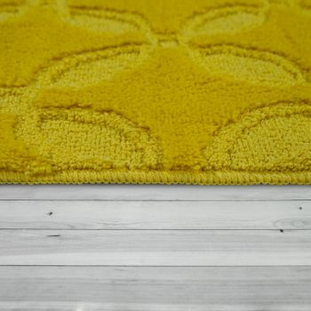 Bath Mat, Short-Pile Rug For Bathrooms Monochrome Non-Slip, In Yellow – Bild 2