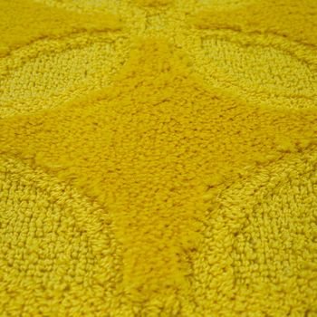 Bath Mat, Short-Pile Rug For Bathrooms Monochrome Non-Slip, In Yellow – Bild 3