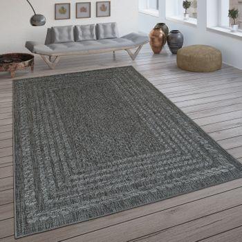 In- & Outdoor-Teppich, Flachgewebe Mit Skandi-Design Und Sisal-Optik In Grau – Bild 1