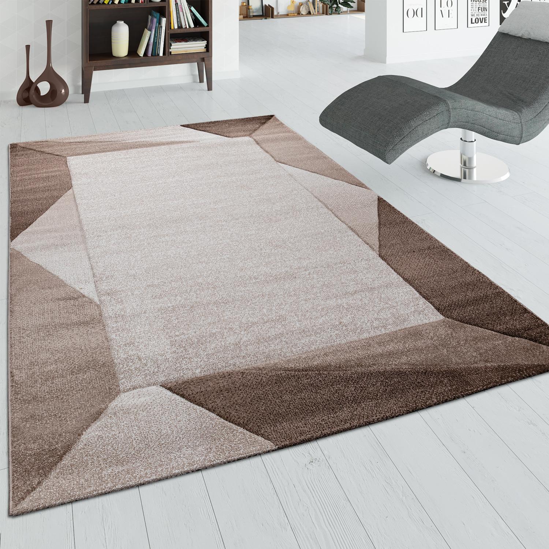 Salon Marron Et Beige Photos tapis de salon bordure 3d beige marron