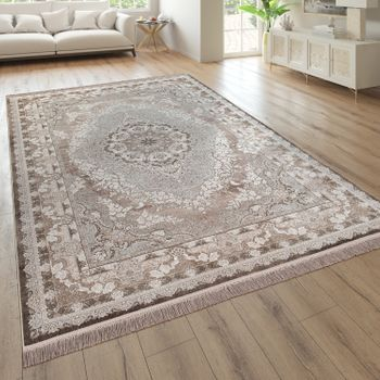 Short-Pile Rug Oriental Pattern Living Room Beige