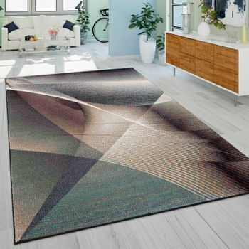 Designer Rug, Short Pile With Colour Gradient Modern Painting Pattern, In Multicoloured – Bild 1