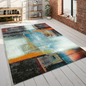 Designer Rug, Short-Pile Rug Abstract Pattern Gradient, In Multicoloured – Bild 1