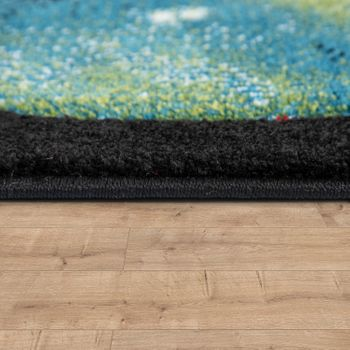 Children's Rug, Play Rug For Child's Room With Planets And Stars, In Black – Bild 2