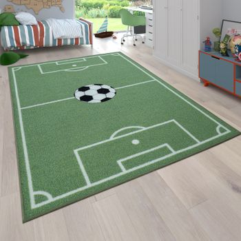 Children's Rug, Play Rug For Child's Room With Football Design, In Green – Bild 1