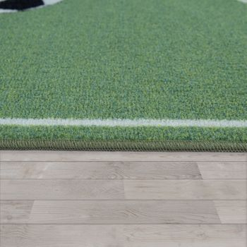 Children's Rug, Play Rug For Child's Room With Football Design, In Green – Bild 2