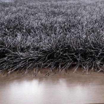 hoogpolig vloerkleed voor woonkamer, shaggy met glittergaren, grijs antraciet – Bild 2