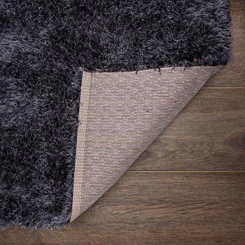 hoogpolig vloerkleed voor woonkamer, shaggy met glittergaren, grijs antraciet – Bild 4