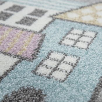 Kinder-Teppich, Spiel-Teppich Für Kinderzimmer, Mit Straßen-Motiv, In Grün Grau – Bild 3