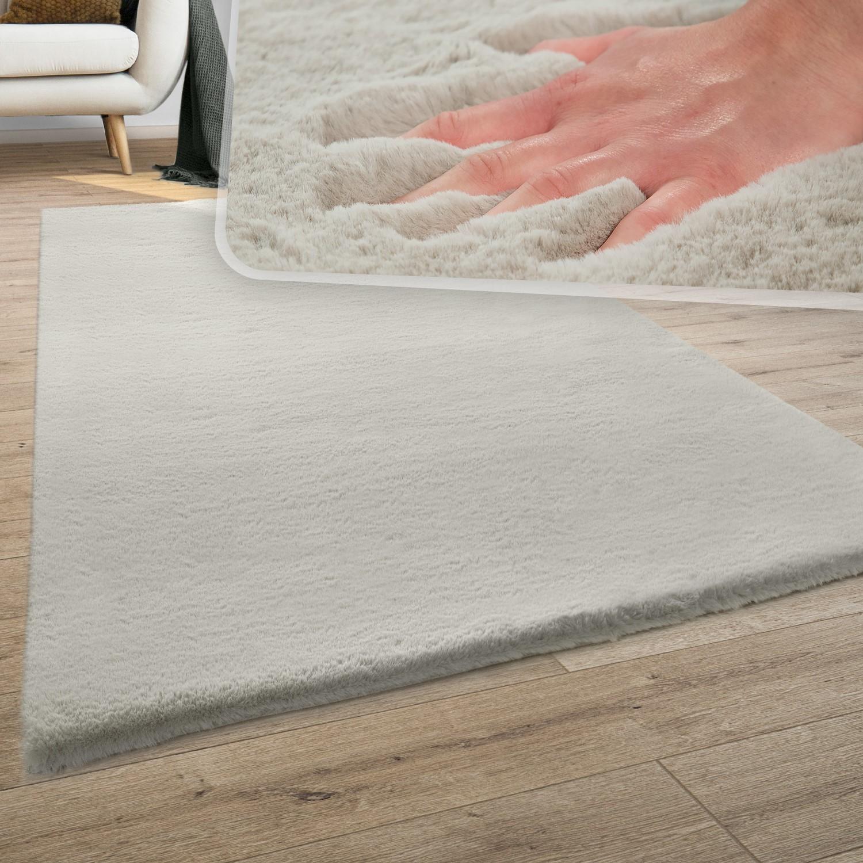 Hochflor Teppich Shaggy Fur Wohnzimmer Soft Weich Waschbar In Beige Ebay