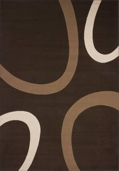 Modern Rug in Brown and Beige