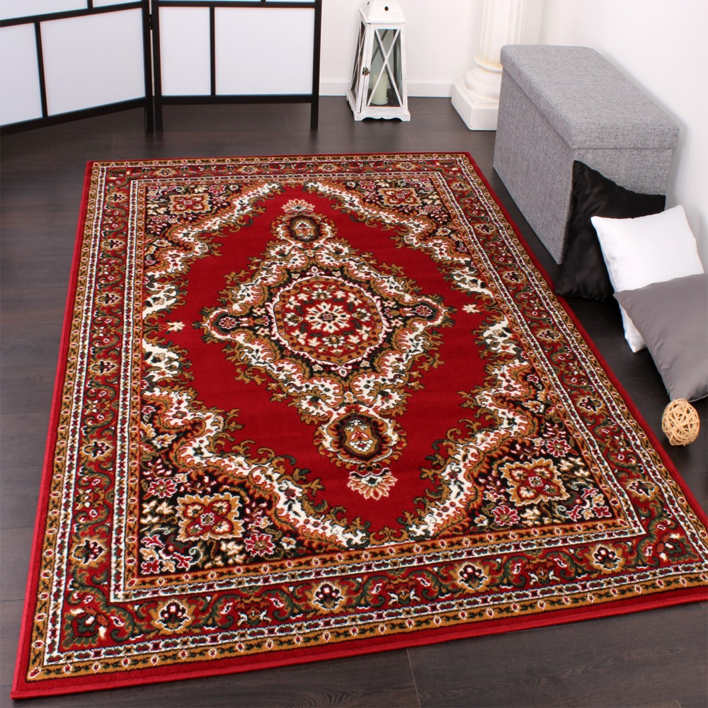 Classic Oriental Pattern Rug Red